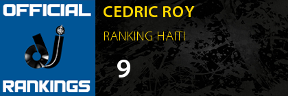 CEDRIC ROY RANKING HAITI