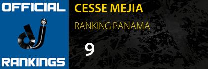 CESSE MEJIA RANKING PANAMA