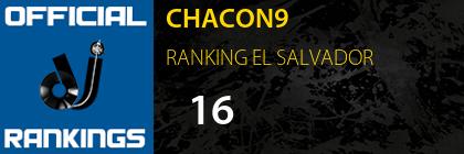 CHACON9 RANKING EL SALVADOR