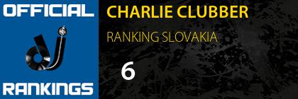 CHARLIE CLUBBER RANKING SLOVAKIA