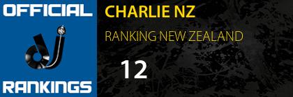 CHARLIE NZ RANKING NEW ZEALAND