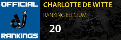 CHARLOTTE DE WITTE RANKING BELGIUM