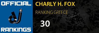 CHARLY H. FOX RANKING GREECE