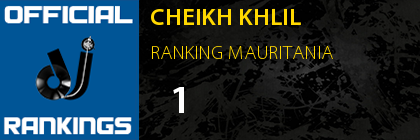 CHEIKH KHLIL RANKING MAURITANIA