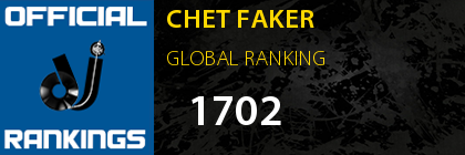 CHET FAKER GLOBAL RANKING