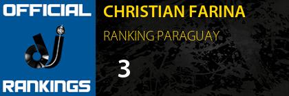 CHRISTIAN FARINA RANKING PARAGUAY