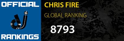CHRIS FIRE GLOBAL RANKING