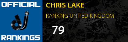 CHRIS LAKE RANKING UNITED KINGDOM