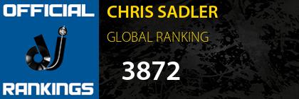 CHRIS SADLER GLOBAL RANKING