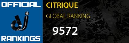 CITRIQUE GLOBAL RANKING