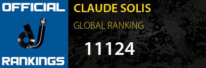 CLAUDE SOLIS GLOBAL RANKING