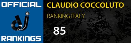 CLAUDIO COCCOLUTO RANKING ITALY