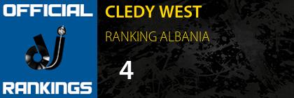 CLEDY WEST RANKING ALBANIA