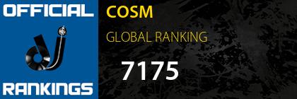 COSM GLOBAL RANKING