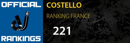 COSTELLO RANKING FRANCE