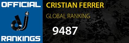 CRISTIAN FERRER GLOBAL RANKING