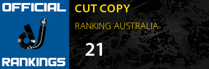 CUT COPY RANKING AUSTRALIA