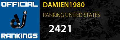 DAMIEN1980 RANKING UNITED STATES