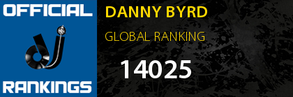 DANNY BYRD GLOBAL RANKING