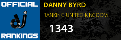 DANNY BYRD RANKING UNITED KINGDOM