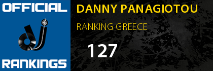 DANNY PANAGIOTOU RANKING GREECE