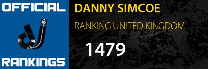 DANNY SIMCOE RANKING UNITED KINGDOM