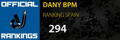 DANY BPM RANKING SPAIN
