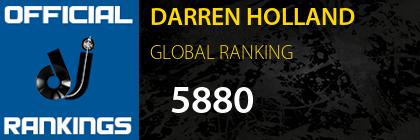 DARREN HOLLAND GLOBAL RANKING
