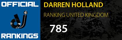 DARREN HOLLAND RANKING UNITED KINGDOM
