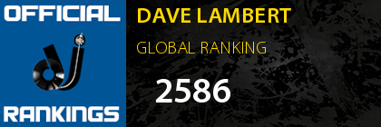 DAVE LAMBERT GLOBAL RANKING