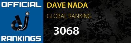 DAVE NADA GLOBAL RANKING