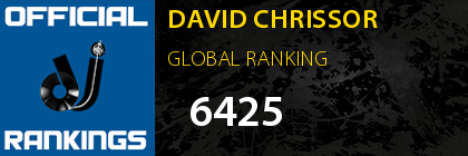 DAVID CHRISSOR GLOBAL RANKING