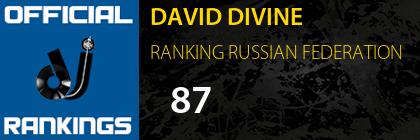 DAVID DIVINE RANKING RUSSIAN FEDERATION