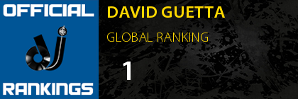 DAVID GUETTA GLOBAL RANKING