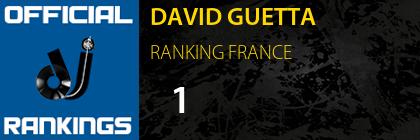 DAVID GUETTA RANKING FRANCE