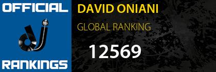 DAVID ONIANI GLOBAL RANKING