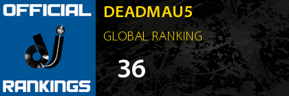 DEADMAU5 GLOBAL RANKING
