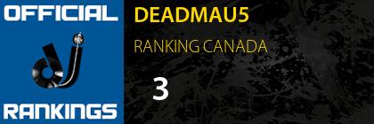 DEADMAU5 RANKING CANADA