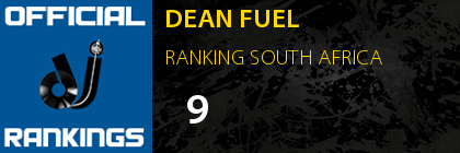 DEAN FUEL RANKING SOUTH AFRICA