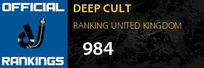 DEEP CULT RANKING UNITED KINGDOM