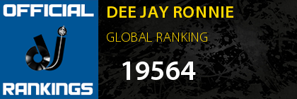 DEE JAY RONNIE GLOBAL RANKING