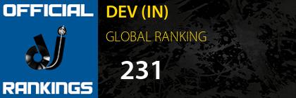 DEV (IN) GLOBAL RANKING