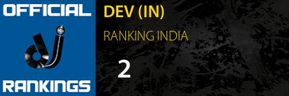 DEV (IN) RANKING INDIA