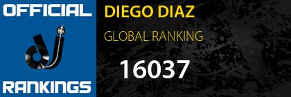 DIEGO DIAZ GLOBAL RANKING