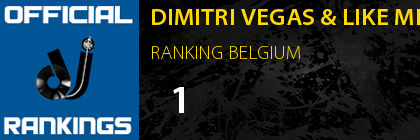 DIMITRI VEGAS & LIKE MIKE RANKING BELGIUM