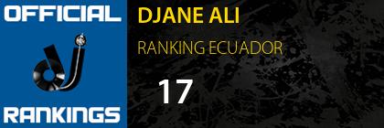 DJANE ALI RANKING ECUADOR