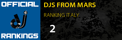 DJS FROM MARS RANKING ITALY
