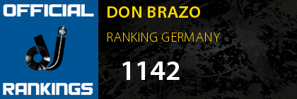 DON BRAZO RANKING GERMANY