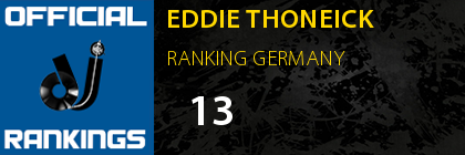 EDDIE THONEICK RANKING GERMANY