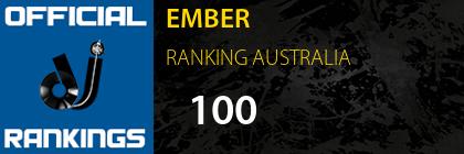 EMBER RANKING AUSTRALIA